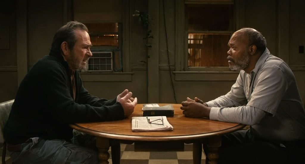 Scena tratta dall'omonimo film interpretato da Tommy Lee Jones e Samuel L. Jackson (2011)