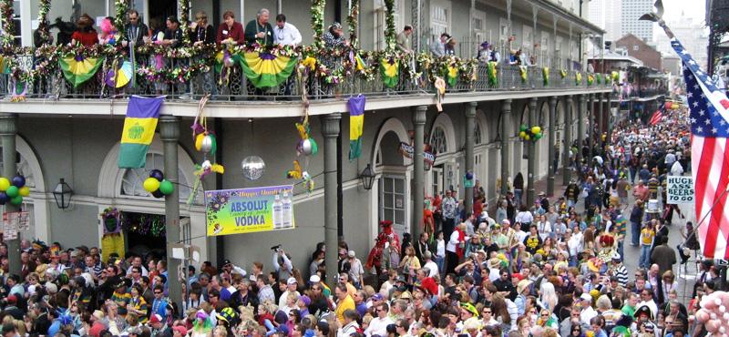 New Orleans durante il Mardi Gras (fonte: stunningplaces.net)