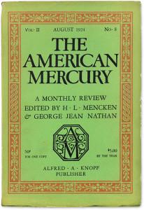 """Una tipica copia della celebre rivista letteraria """"The American Mercury"""""""